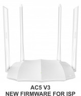 Tenda AC5 v3 AC1200 wireless dual band ruter 2.4+5GHz, 1W/3L 10/100, 1Ghz cpu, 4x5dBi, 9v/1