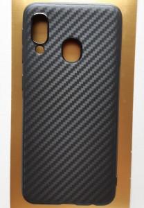 "TPU maska CARBON 0.3mm za Samsung Galaxy A20E 2019 (5.8"") crna"