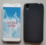 TPU Maska PUDDING Alcatel OT 6039 IDOL 3  4.7inč.  CRNA