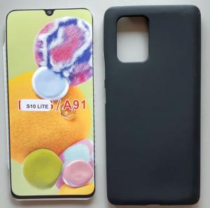 "TPU maska PUDDING za Samsung SM-G770F, Galaxy S10 LITE 2020, A91 2020 (6.7"") crna"