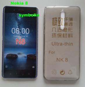 TPU maska za Nokia 8   dim providna