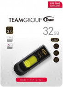 USB 3.0 Flash 32GB TeamGroup C145 TC145332GY01, YELLOW