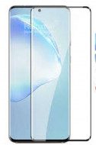 """Zaštitno staklo 5D FULL GLUE za Samsung Galaxy S20 Ultra 2020 (6.9"""") zakrivljeno, crni rub"""