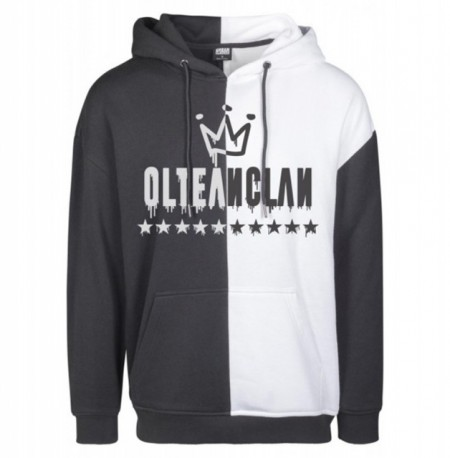 OLTEANCLAN PREMIUM [black and white hoodie] [PRECOMANDA]