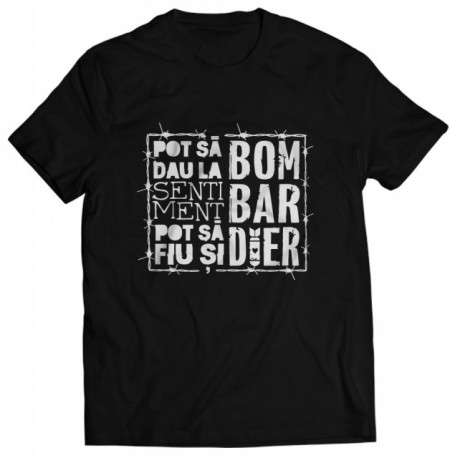 "Pot sa fiu si bombardier [tricou] + ALBUM ""SAFIR"" GRATUIT SEMNAT"