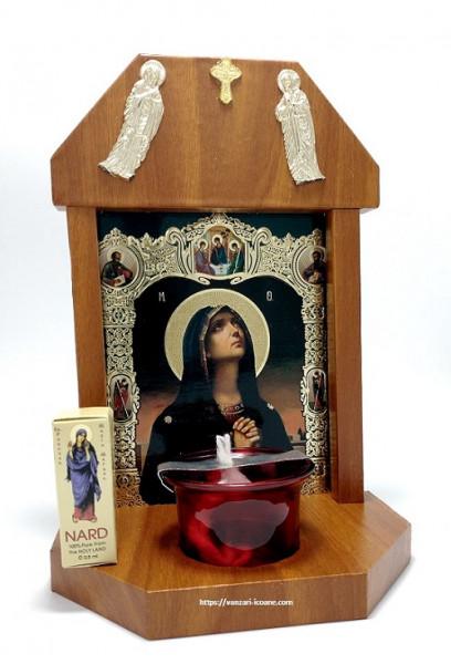 Candela troita din lemn Tanguirea Maicii Domnului