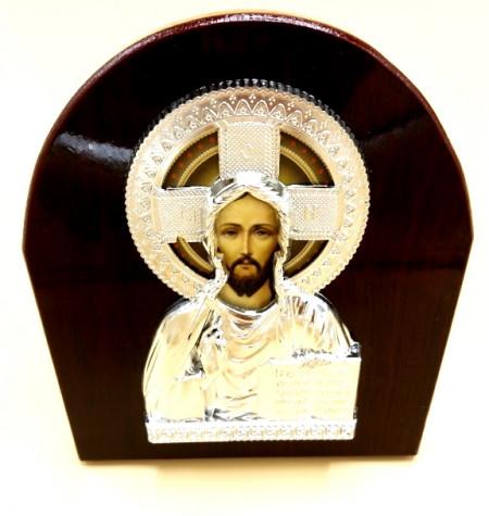 Icoana asimetrica Iisus Hristos binecuvantand