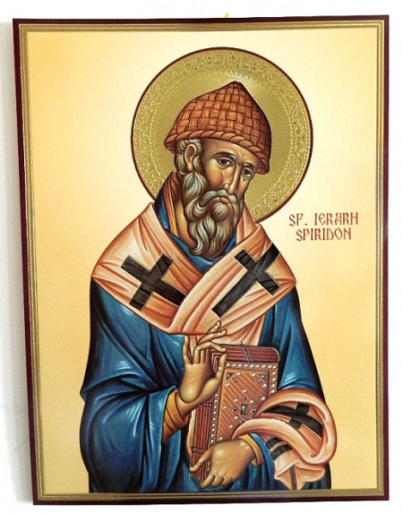 Icoana bizantina a Sfântului Ierarh Spiridon