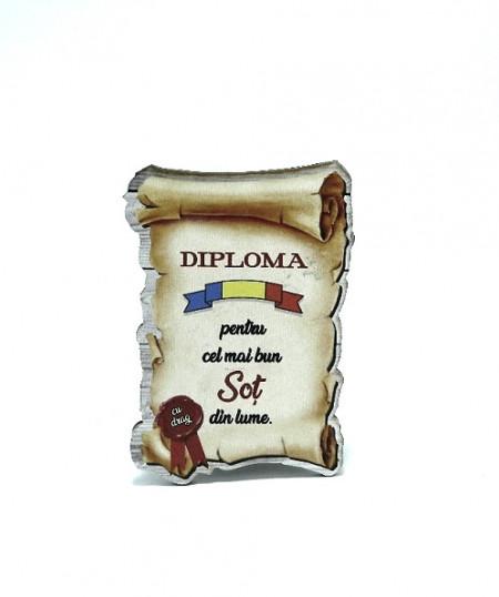 Diploma cu mesaj Cel mai bun sot din lume