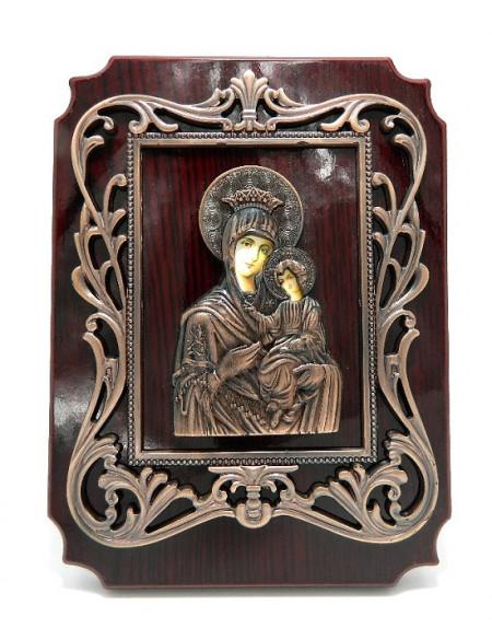 Icoana Icoana pe lemn din bronz pentru birou