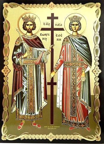 Icoana ortodoxa a Sfintiilor Constantin si Elena