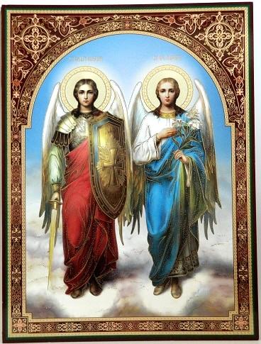 Icoana Sfantii Mihail si Gavriil 30x40 cm