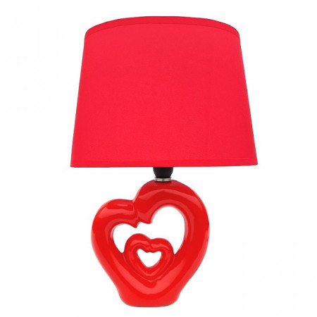Veioza din ceramica cu suport in forma de inimi indragostiti