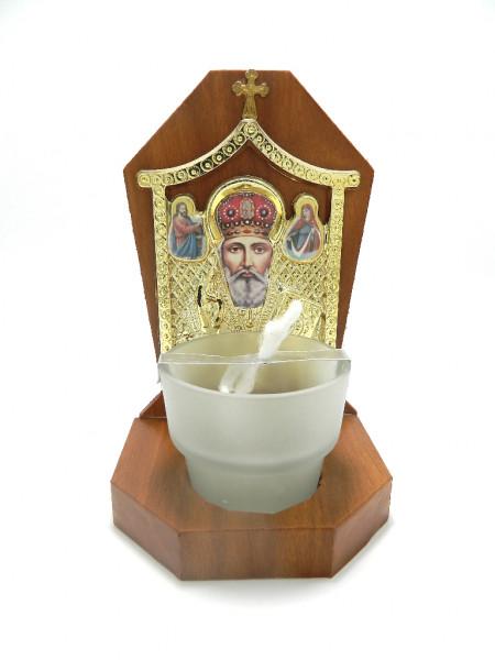 Candela lemn Sfantul Ierarh Nicolaie