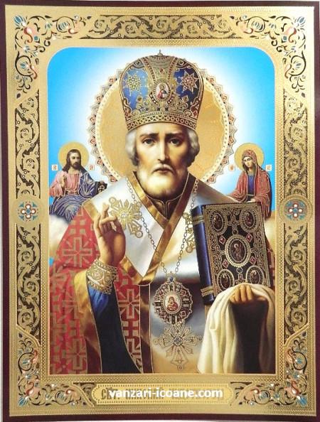 Icoana ortodoxa a Sfantului Nicolaie de Mira