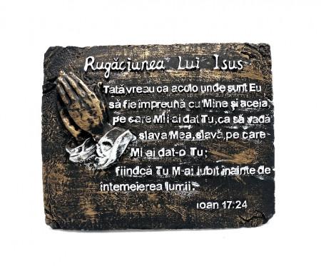Aplica metalica cu Rugaciunea lui Isus