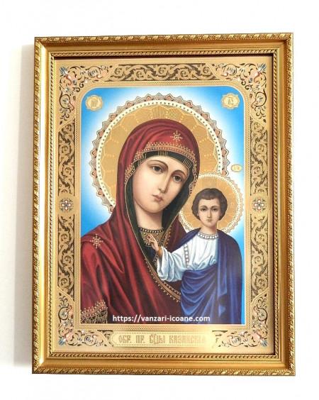 Icoana in rama Maica Domnului din Kazani