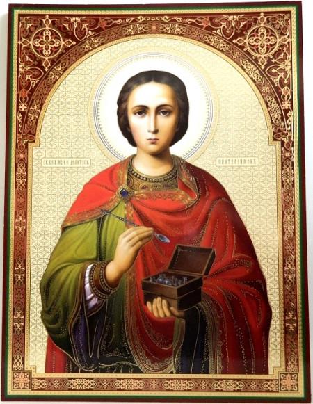 Icoana Sfantul Pantelimon 30x40 cm
