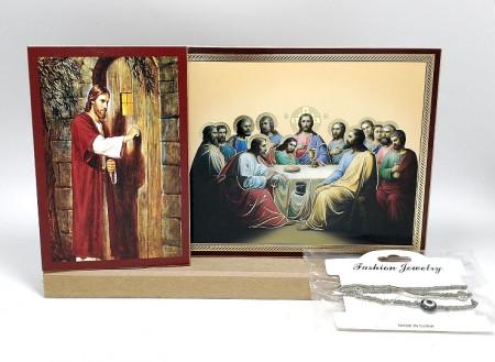 Set icoane Iisus si Cina cea de taina cu un cadou