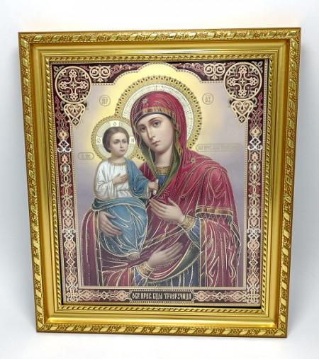 Icoana Sfanta Maica Domnului cu 3 maini in rama