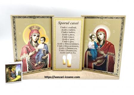 Set icoane Maica Domnului cu binecuvantarea casei