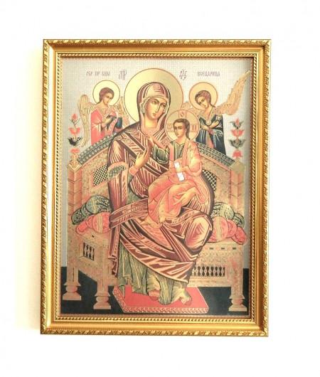 Icoana Maica Domnului pe Tronul lui Dumnezeu