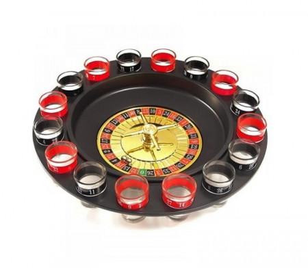 Joc ruleta cu 16 pahare de shot-uri
