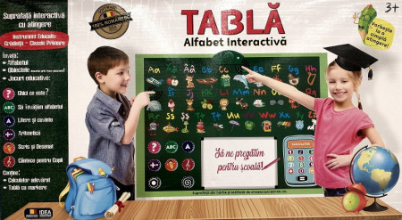 Tabla interactiva cu alfabet,calculator si markere