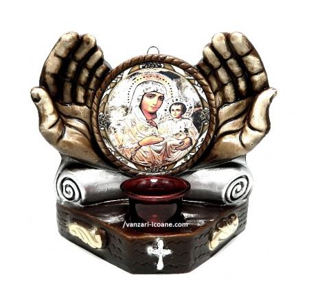 Candela maini cu icoana Maicii Domnului de la Ierusalnita