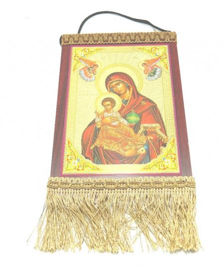 Icoana pe lemn tip Prap Maica Domnului si Isus