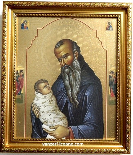 Icoana Sfântului Cuvios Stelian ocrotitorul copiilor