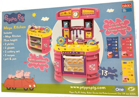 Peppa pig Bucătărie mare cu spatiu pentru depozitare