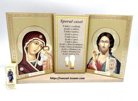 Set icoane Maica si Iisus cu binecuvantarea casei