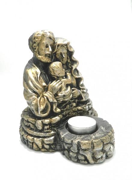 Candela ceramica ce reprezinta Sfanta familie