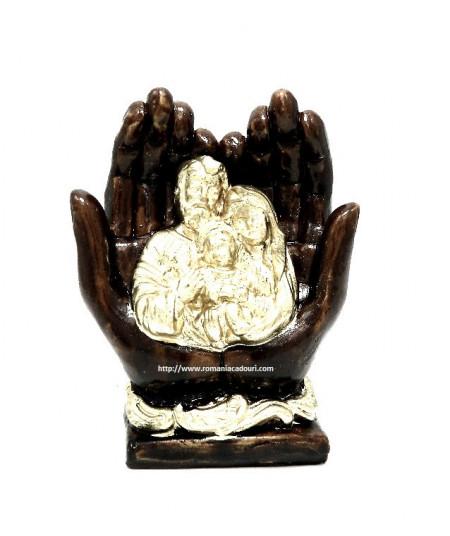 Icoana Sfanta Familie in maini din ceramica