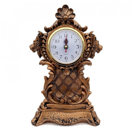 Decoratiune din rasina Lei cu ceas