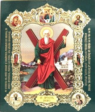 Icoana cu medalion Sfantul Andrei 18x15 cm