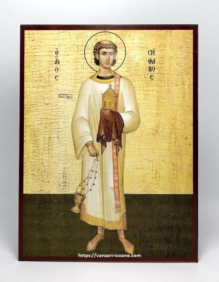 Icoana ortodoxa bizantina Sfantul Stefan