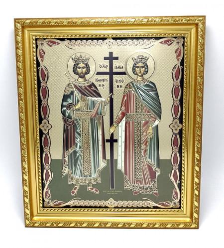 Icoana Sfintii Constantin si Elena in rama