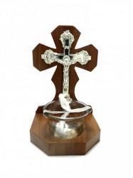 Candela din lemn cu Isus pe Cruce