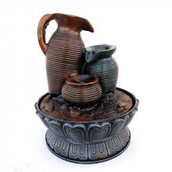 Fantana arteziana din rasina cu 3 vase