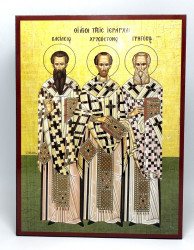 Icoana ortodoxa Sfintii Trei Ierarhi