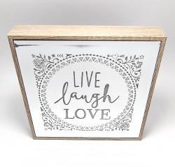Oglinda cu led cu mesaj live laught love