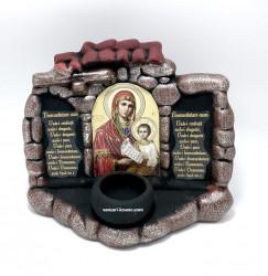Candela ceramica Binecuvantarea casei cu icoana Maicii