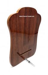 Icoana Maica Fecioara Ingerilor din lemn cu rama aurita spate