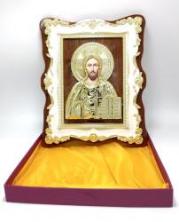 Icoana pe lemn cu marmura Iisus Binecuvantand