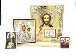 Icoane set sfintite Maica Domnului si Iisus