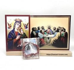 Set icoane Maica Domnului cu Cina de taina