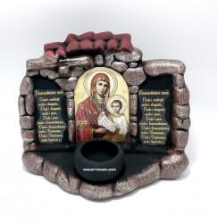 Candela ceramica Binecuvantarea casei cu Icoana