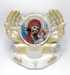 Candela ipsos ceas cu icoana Maicii Domnului